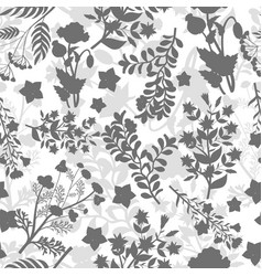 grey floral seamless pattern design vector image