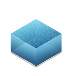 Isometric Of Water vector image