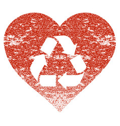 love recycle grunge texture icon vector image