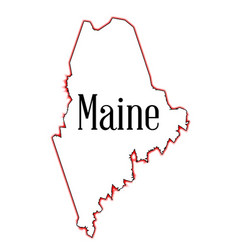 maine vector image vector image
