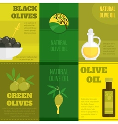 Olives mini poster set vector image vector image