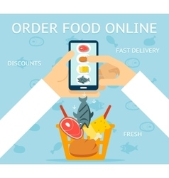 Order food online vector