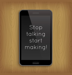 phrase in realistic phone vector image