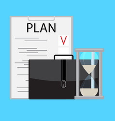 Planning and managing time business vector