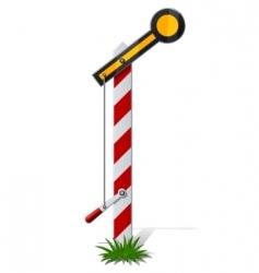 railroad semaphore vector image vector image