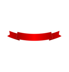 red shiny curved ribbon isolated icon vector image vector image