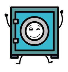 Safe box kawaii character vector
