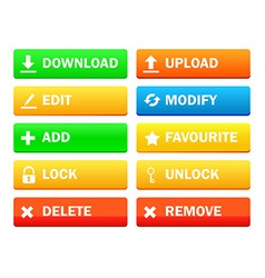 Set of modern icon for site vector