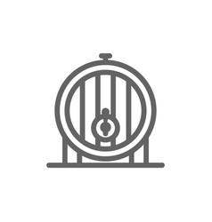simple beer or wine barrel line icon symbol and vector image vector image