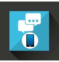 Smartphone bubble chat social network media icon vector