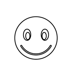 Smiling emoticon icon outline style vector image