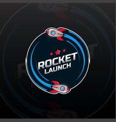 Space rocket ship logo vector