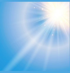sun shiny sunlight from the sky nature with vector image