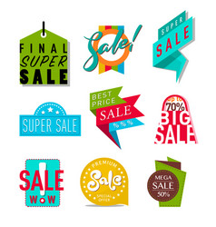 super sale extra bonus banners text in color drawn vector image vector image