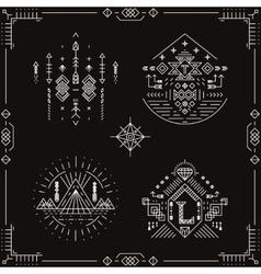 tribal ethnic elements vector image