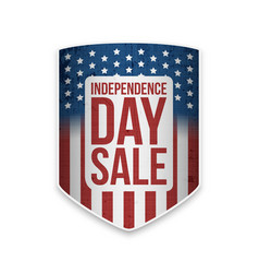 United states independence day sale banner vector