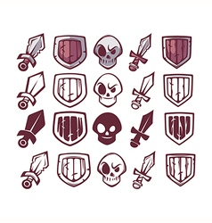 game design icons vector image
