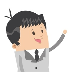Cute businessman icon vector