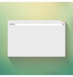 Blank window of internet browser vector image