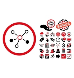 Relations flat icon with bonus vector