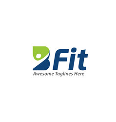B-fit creative b letter health concept vector