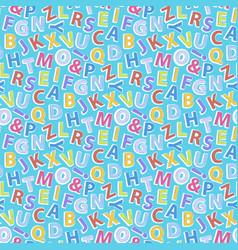 Alphabet pattern seamless vector