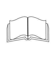 Open book literature encyclopedia learn vector