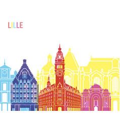 Lille skyline pop vector