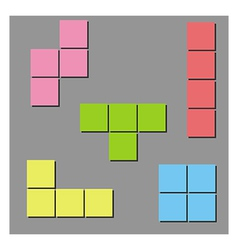 Tetris background vector