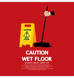 Caution Wet Floor vector image