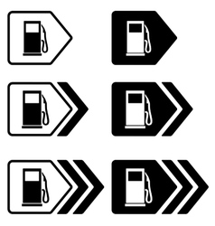 Gas station pointers with arrow vector