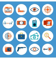 Spy accessories and gadget icons vector