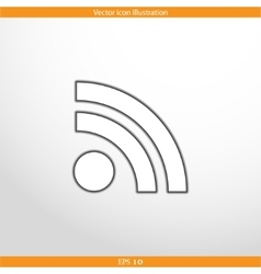 Wi fi web flat icon vector
