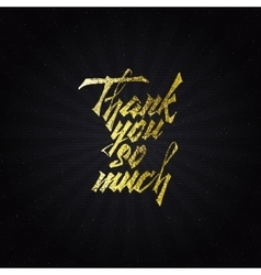 Thank you so much - typographic calligraphic vector