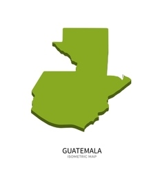 Isometric map of guatemala detailed vector