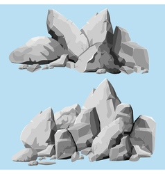 Gray stones set vector