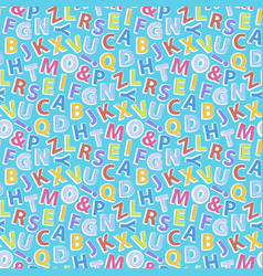 Alphabet pattern seamless vector