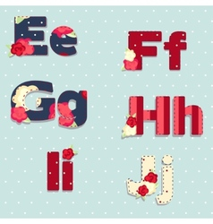 alphabet shabby chic seamless swatch vector image vector image