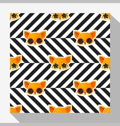 Animal seamless pattern collection with fox 7 vector