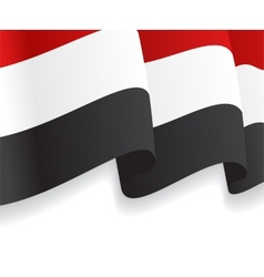Background with waving yemen flag vector