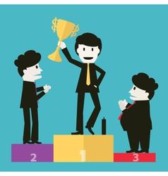 Businessmen congratulated the winners vector
