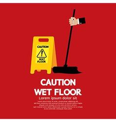 Caution wet floor vector