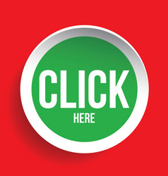 Click here icon button vector