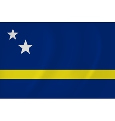 Curacao waving flag vector