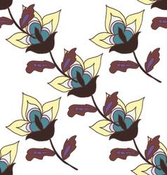 Cute pastel flowers seamless pattern vector