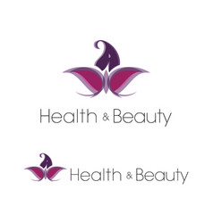 Flower butterfly health and beauty spa logo set vector