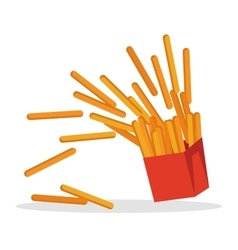 French Fries Isolated on White Crispy Potatoes vector image vector image
