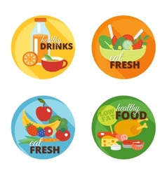 Healthy eating flat icon vector image