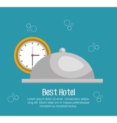 hotel bell isolated icon vector image vector image