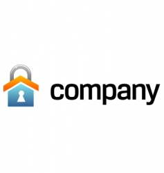 house security logo vector image vector image